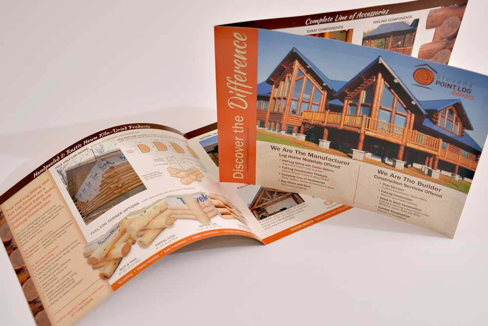 stevens point log homes brochure
